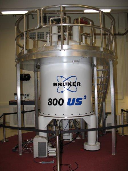 Image of the giant Bruker 800 Magnet
