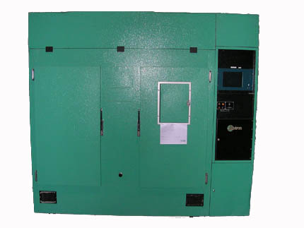 Image of a green door to the E15 Growth Chamber
