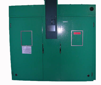 Image of a green door to the PGC20 Growth Chamber