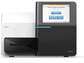 Image of Illumina MiSeq Sequencer machine displaying the MiSeq user interface