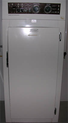 Image of a white door to the Percival Incubator