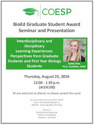 BioEd Graduate Student Award Seminar