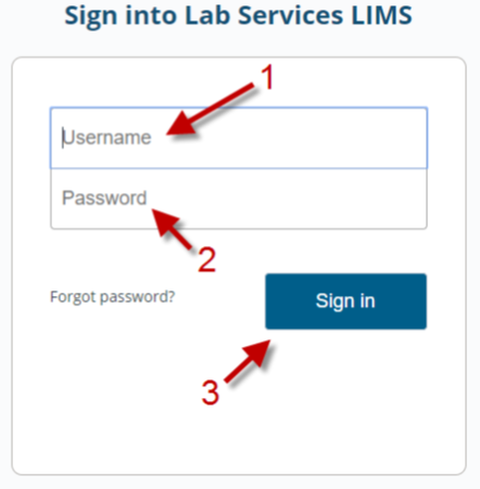How to login to LIMS
