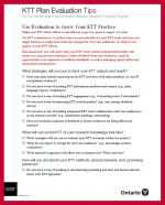 Cover of KTT Plan Evaluation Tips