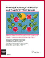 Cover of Growing KTT in Ontario manual