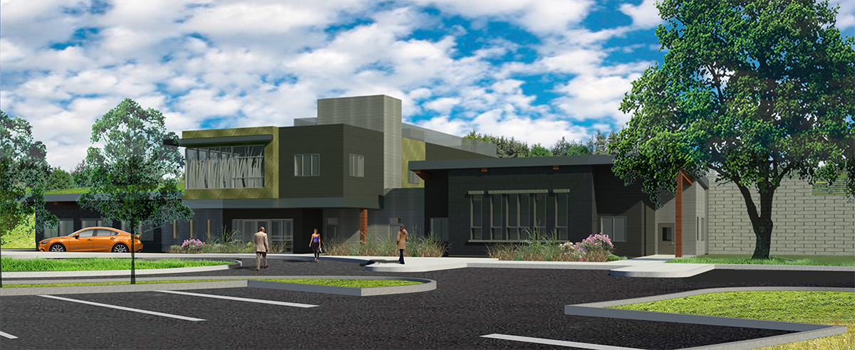 Rendering of new Guelph Turfgrass Institute building