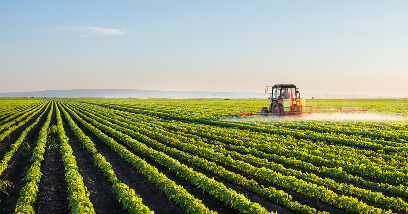 Image of a tractor in field