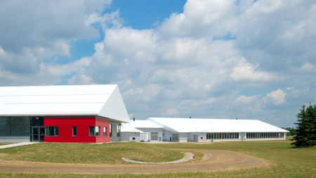 Exterior of the dairy barn