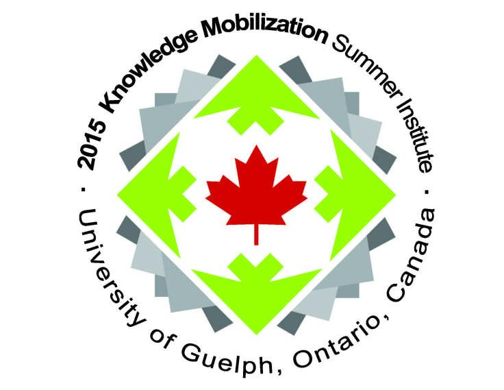 Logo for KM summer institute. Text reads 2015 Knowledge Mobilization Summer Institute, University of Guelph, Ontario, Canada