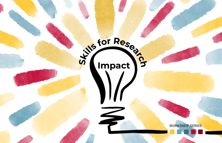 Skills for Research Impact Workshop Series Graphic.