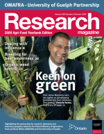 Cover of Keen on Green issue of Research magazine
