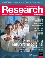 Cover of Harnessing nature's medicine issue of Research magazine