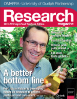 Cover of A better bottom line issue of Research magazine