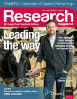 Cover of Leading the Way issue of Research magazine