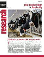 Cover of Elora Research Station-Dairy Facility research newsletter