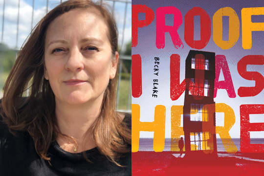 Author Becky Blake headshot, and cover of her novel