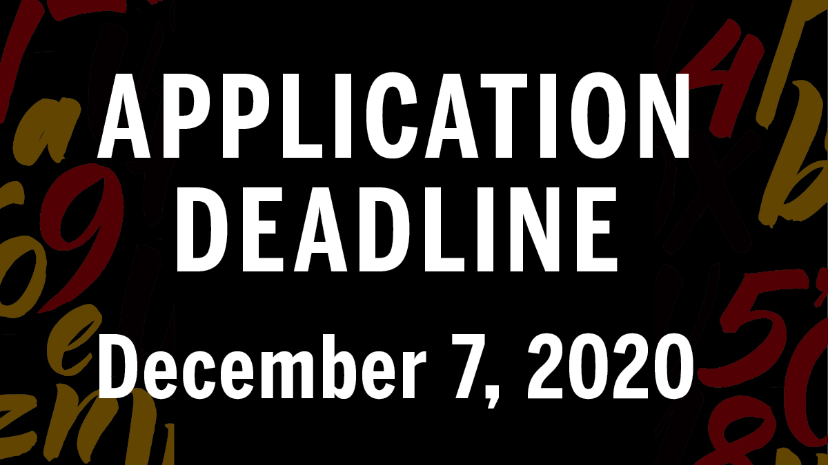 Application Deadline: December 7, 2020