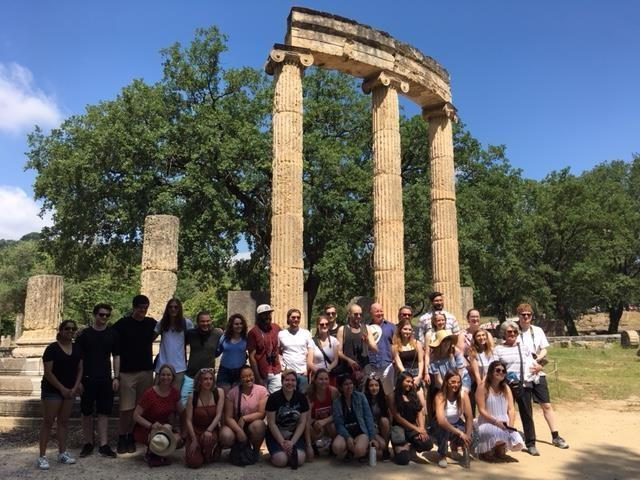 Group picture in front of Philippeion at Olympia