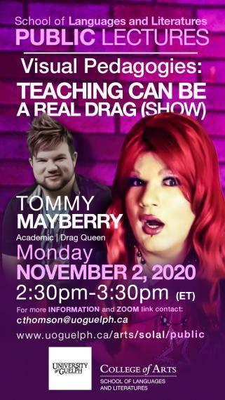 Poster for Tommy Mayberry public talk on November 2 at 2:30pm