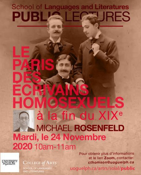 Poster of Le Paris Des Ecrivains Homosexuels a la fin due XIX for Nov 24
