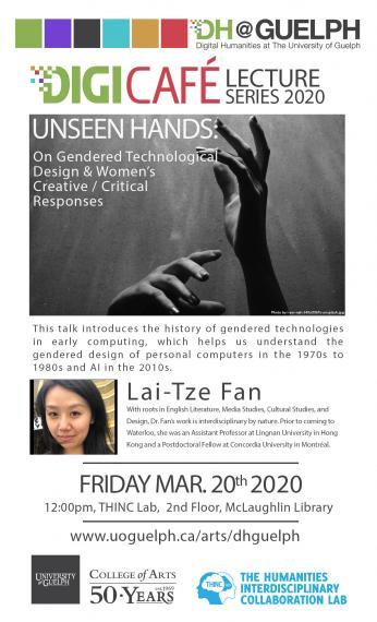 Posting showing hands in the air and a headshot of Lai-Tze Fan
