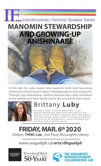Poster of Dr. Brittany Luby's presentation on March 6, 2020