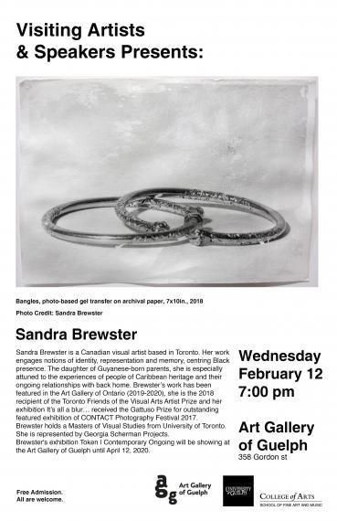 Poster of Visiting Artists & Speakers Talk: Sandra Brewster