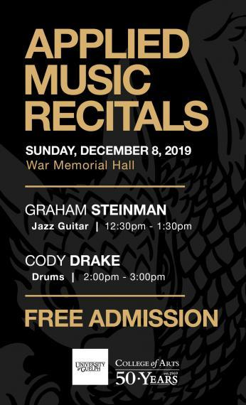 Applied Music Recital Poster