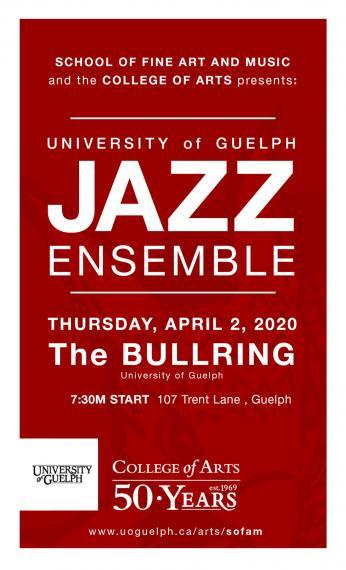 Jazz Ensemble Poster for April 2, 2020 (text only)
