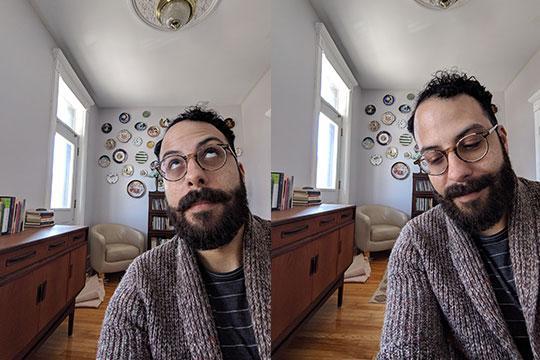 David Bradford in his Montreal apartment.