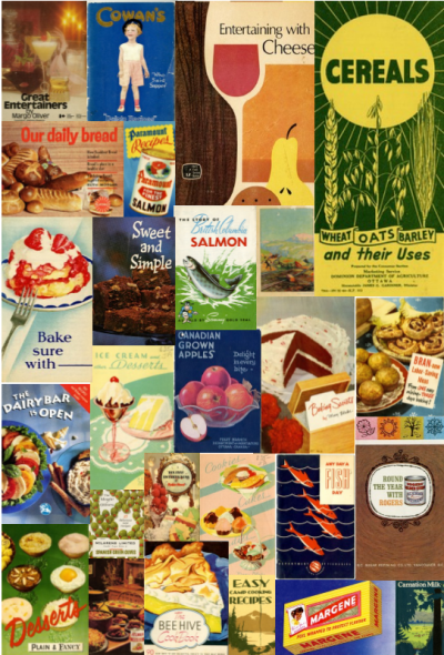 Collage of various colourful cookbook covers.