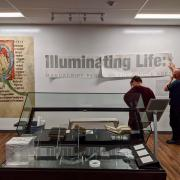 Installation of gallery wall decals
