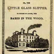 "Cover of an old chapbook titled ""Little Glass Slipper""."