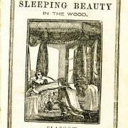 White cover of an old chapbook about Sleeping Beauty in the Wood.