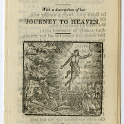 "Cover of a chapbook titled ""With a description of the Journey to Heaven""."