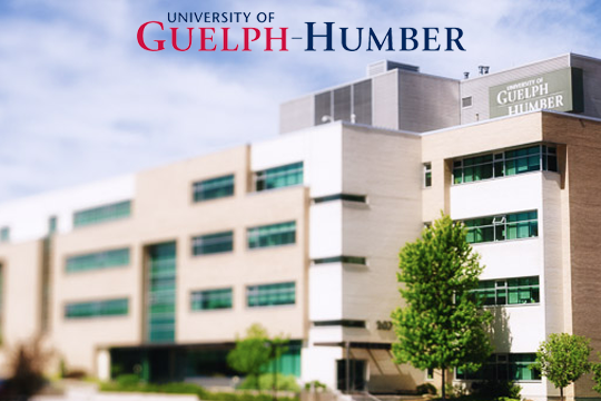 The Guelph-Humber Building and logo