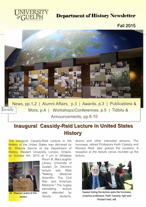 History Dept News Fall 2015