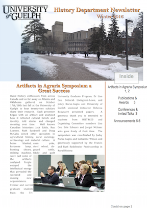 History Dept News Winter 2015