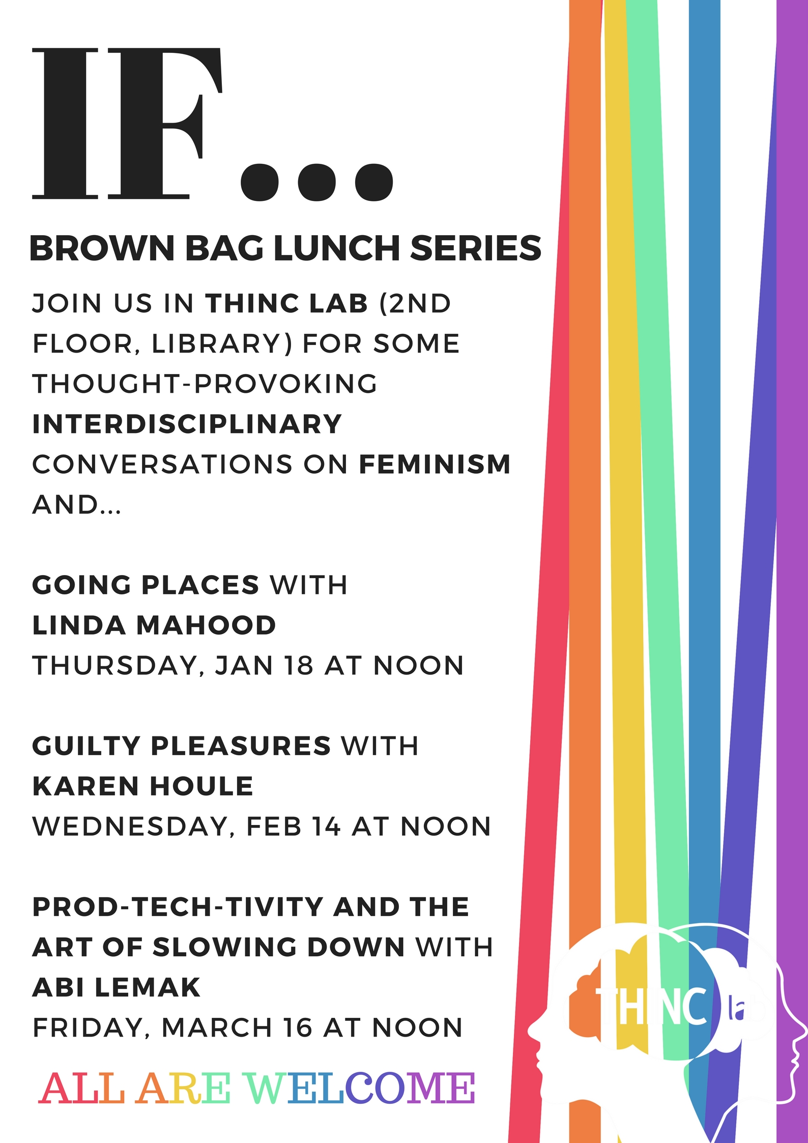 IF Speaker Series Poster for Winter 2018 Brown Bag Lunches