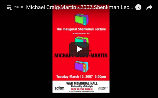 Shenkman Lecture by Michael Craig-Martin video link
