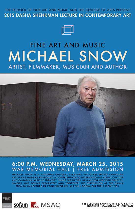 poster for michael snow event