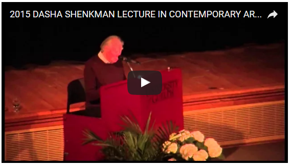 Dasha Shenkman Lecture - Micheal Snow Video