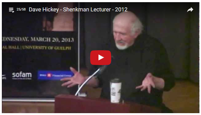 Dave Hickey - Shenkman Lecturer 2012 Video