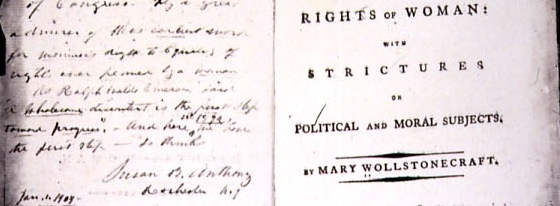 "Image of title page of ""The Rights of Women"""