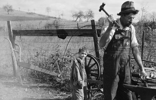 farmer and boy