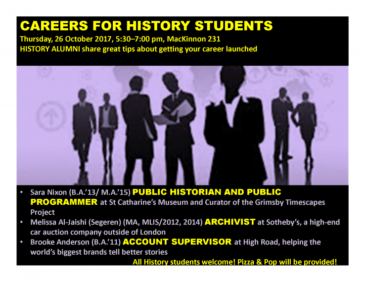 Careers for History Students poster