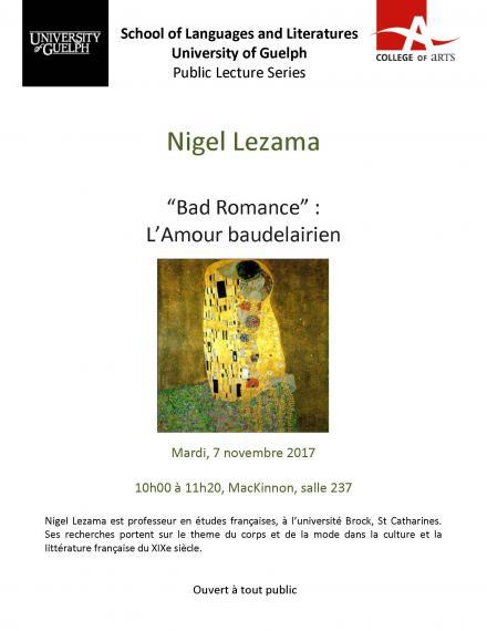 Nigel Lezama talking about Bad Romance (L'amour baudelairien)