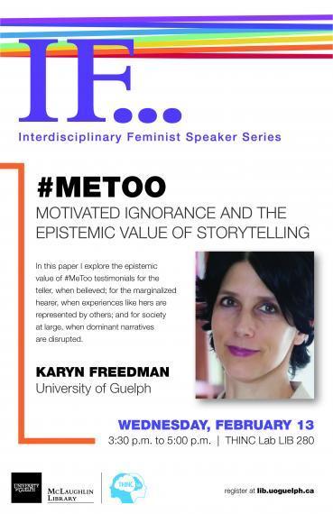 Poster for #MeToo IF Speaker Series