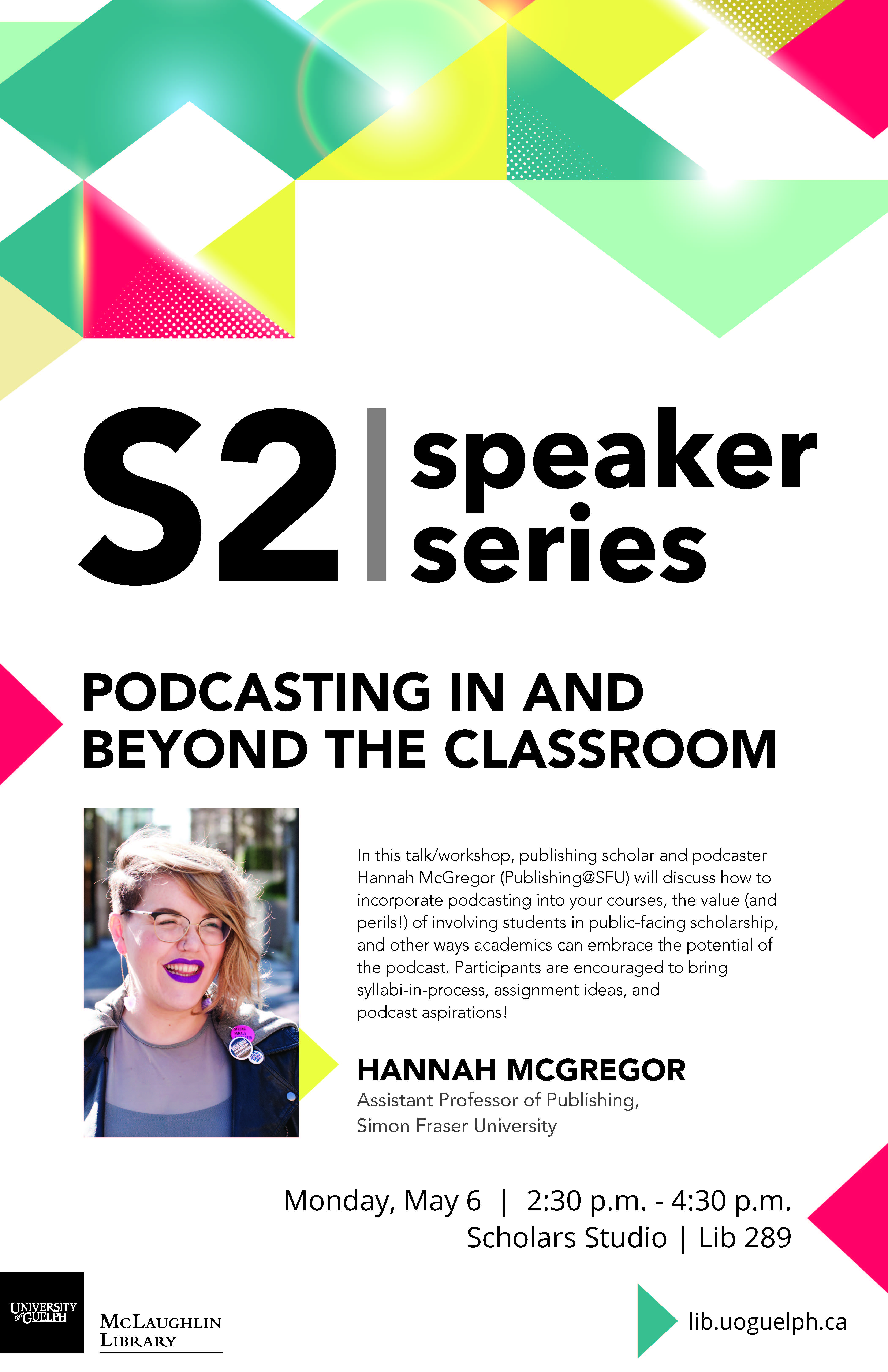 Poster of Hannah McGregor Talk
