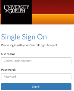 Single Sign-On Page Image